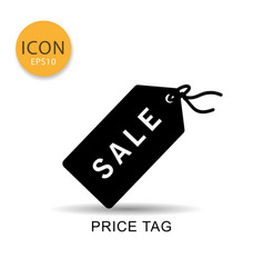 price tag icon isolated flat style vector image