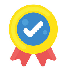 Quality check flat icon vector