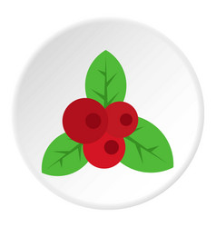 Red currant icon circle vector