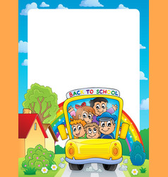 school theme frame 9 vector image