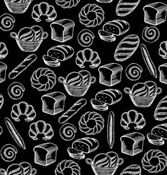 Seamless pattern background bakery package vector image
