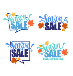 season sale collection of autumn discount vector image