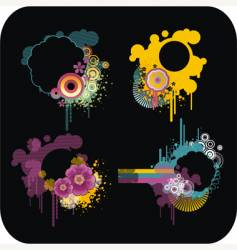 set of colour frames vector image vector image