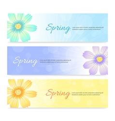 Set of spring banner background vector