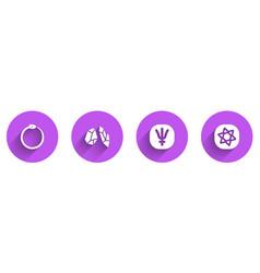 Set ouroboros magic stone neptune planet vector