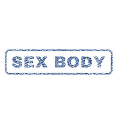 Sex body textile stamp vector