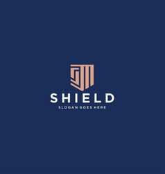 Sm shield logo vector