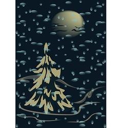 Snowfall vector image
