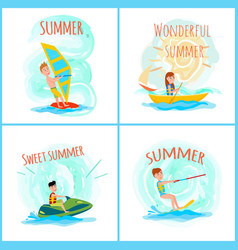 sweet wonderful summer color vector image