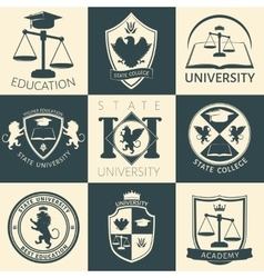University Heraldry Vintage Stickers vector