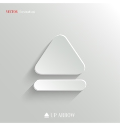 Up arrow icon - white app button vector image