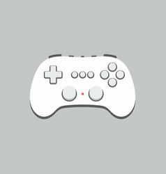 video game joystick icon flat style isolated on vector image