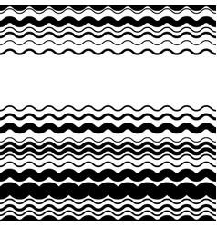 Wavy zig-zag horizontal parallel lines abstract vector