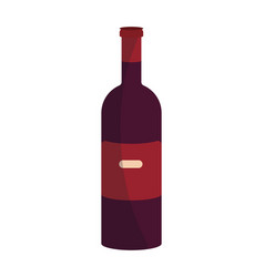 wine bottle isolated vector image