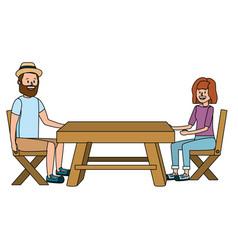 Young couple cartoon vector
