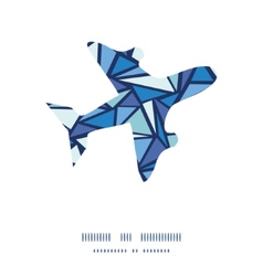 abstract ice chrystals airplane silhouette pattern vector image vector image