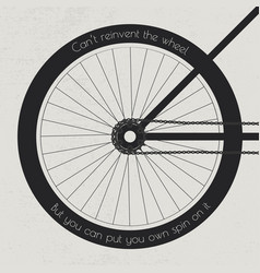bike wheel with quote vector image