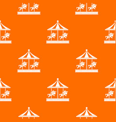 Merry go round horse ride pattern seamless vector
