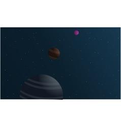 planet space landscape vector image vector image