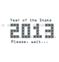 Snake year concept vector image