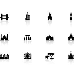 Web buttons landmark icons vector