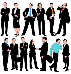 13 business people set vector image