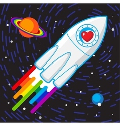 Love rocket vector image vector image