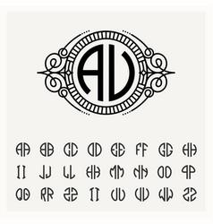 Modern emblem badge template luxury elegant vector
