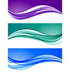abstract elegant colorful backgrounds set vector image vector image