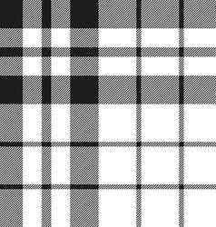 Hibernian fc tartan check plaid black and white vector image