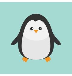 Penguin Cute cartoon character Baby bird Arctic vector image vector image