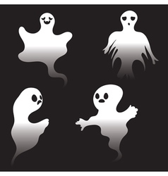 Simple spooky ghosts2 vector