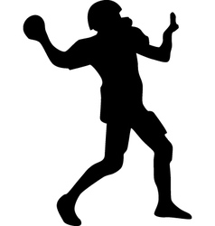 american football player silhouette vector image vector image