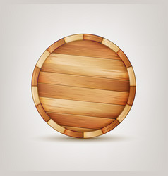 barrel wooden sign wooden 3d icon vector image vector image