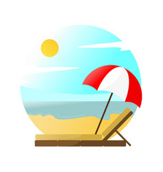 beach relaxing scenery vector image