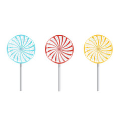 birthday lollipops isolated vector image vector image