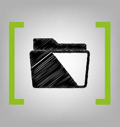 folder sign black scribble vector image
