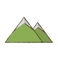 mountains nature picture image vector image