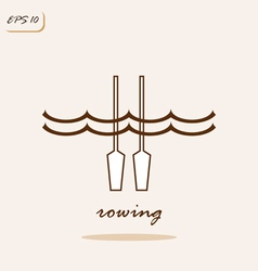 rowing vector image
