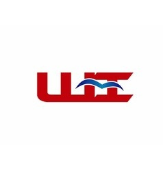Wi company linked letter logo vector
