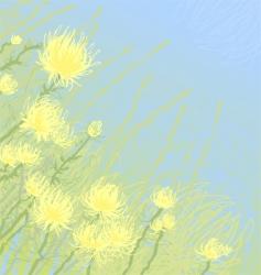 Yellow flowers vector