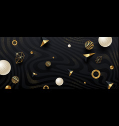 abstract black and gold background vector image