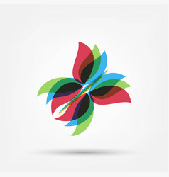Abstract butterfly shape vector