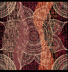 abstract round mandala pattern vector image
