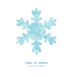 Abstract swirls Christmas snowflake silhouette vector