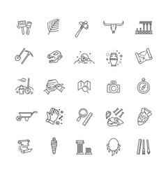 Archeology collection vector