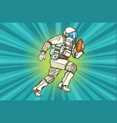 astronaut athlete american football vector image