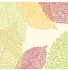 Autumn Leaves Pattern EPS 8 vector image