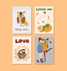 autumn templates set design for card vector image