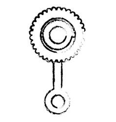 baby maraca isolated icon vector image vector image
